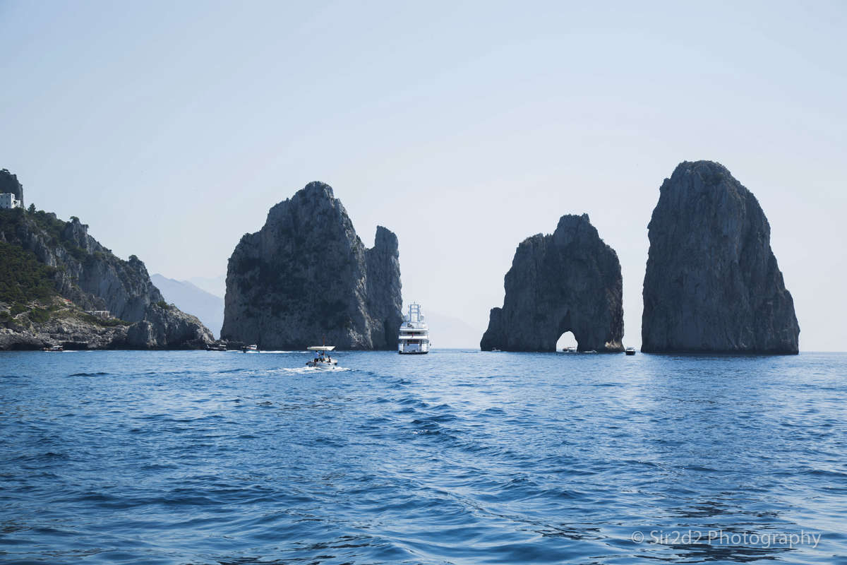The beautiful Capri Island  on the Amalfi Coast